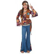 Hippie Costume Kids 60s 70s Halloween Fancy Dress