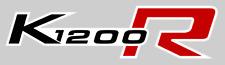 2 ADESIVI SERBATOIO per MOTO BMW K1200R K1200 STICKERS K 1200 R NERO-ROSSO 17x4