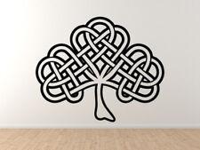 Ireland Tradition Irish Clover Shamrock Shaped Celtic Knot  - Vinyl Wall Decal