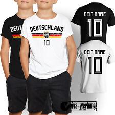 Deutschland WM T-Shirt Trikot Shirt mit Wunschname Kinder 2018 Russland Fussball
