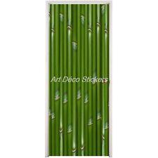 Sticker pour porte plane Bambou 73x204cm réf 071