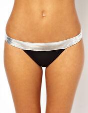 VERO MODA Intimates Silver Trim Banded Bikini Bottom K-43