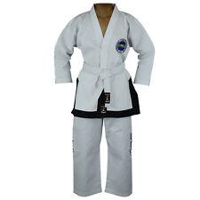 Playwell ITF Students Black Belt Uniform Martial Arts Gi Suits Taekwondo TKD