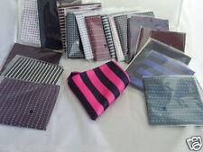 """Any TOP Quality Silk Pocket Hankie- 9"""" x 9"""" = 23cm x 23cm >> P&P 2UK >>1st Class"""