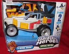Star Wars Galactic Heroes X-WING RACER Mint in Box  2005  w/ Luke Figure