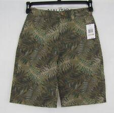 Nautica boys shorts flat front cotton size 12 NEW