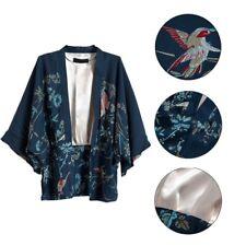 Womens Phoenix Printed Loose Boho Shawl Kimono Bat Cardigan Coat Jacket Blouse