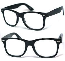 Large Square Frame Clear Lens Reading Glasses Various Strength Shiny Black Frame