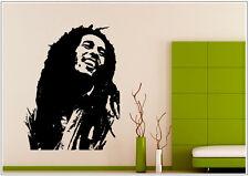Wandtattoo wandaufkleber wandsticker photo  Porträt Bob Marley music wph30