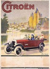 Vintage 1920's Citroen Advertisement Poster  A3 Print