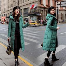 Large Size Korean Women Long Parka Coat Hooded Cotton Down Puffer Thicken Jacket