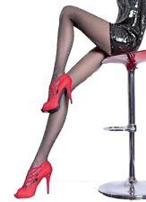 Women's 20 Denier Sparkle Black Tights, Shiny Sheer Pantyhose, Fiore Veronica