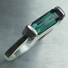 1ct Natural blue green tourmaline 925 silver 9ct 14k 18k Gold Platinum ring