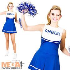 Blue & White Donna Cheerleader Costume Sport Costume Adulto Da Donna uniforme