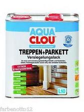 Clou L10 Aqua Treppen und Parkett Versiegelungslack 750ml 2,5ltr 5ltr