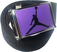 Jordan Jumpman Purple Black Belt Buckle Bottle Opener Adjustable Web Belt