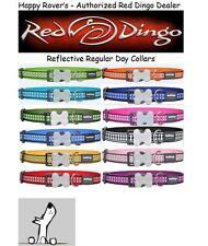 PREMIUM RED DINGO Dog Collars - All Sizes/Colors - Reflective Bones Regular