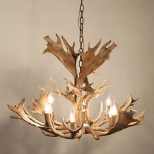 "Faux Antler 43"" Rustic Cascade Antler Chandelier 8 Candle Pendant Light Lamp"