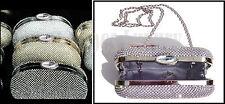 pochette elegante borsa cerimonia con brillantini strass oro argento nero