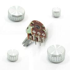 STEREO/DUAL Potenziometro ohm Lin B MIXER Volume Tono E Argento Coppa in alluminio