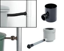 Regensammler Ø 50-110 mm [braun - weiß - schwarz - anthrazit - grau]
