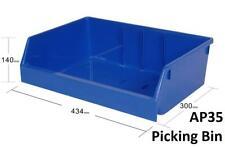 AP35 Pack of 8 VISIPLAS Picking Bins 300x434x140mm Blue