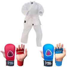 Kids Karate Martial Arts training Uniform 100% Cotton With Kids Karate Mitts B/R