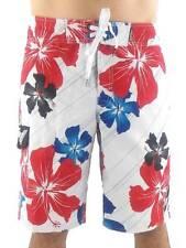 O'Neill Short Bañador Cali Flower Blanco Rojo Blau cordón floral