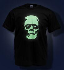 Monstre de Frankenstein T SHIRT lueur dans l'obscurité!!
