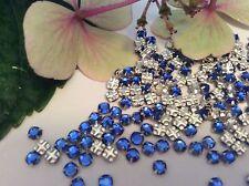 Swarovski Rose Montees Dark Sapphire Prong Set Pack of 30 Craft Post Free