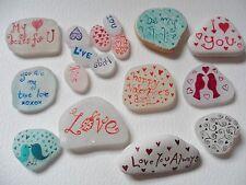 Romantic keepsakes - Personalised messages on Sea glass, pottery & pebbles