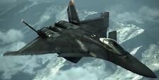 CFA-44 Nosferatu Ace Combat 6 Aircraft Mahogany Kiln Dry Wood Model Large New