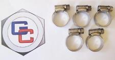 Mg Midget Sprite Calentador Manguera Clip Set Cromo Chocones-Acero Inoxidable