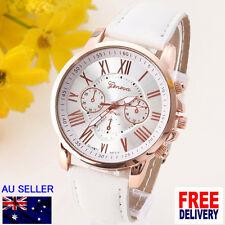 8 COLORS Luxury Gold Roman Women Numeral Leather Analog Quartz Wristwatch