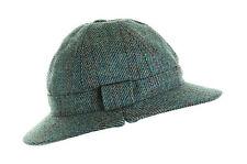 Ghillie chapeau carreaux bleu laine tweed pour chasse tir pêche nouveau toutes tailles