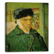 Van Gogh autoritratto con orecchio quadro stampa tela dipinto telaio arredo casa