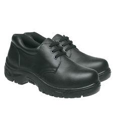 Grafters Mens Safety Shoe Steel Toe Cap Kitchen Lightweight Work Trainer Black