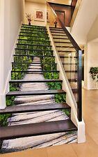 3D Bridg Green Forest 482 Risers Decoration Photo Mural Vinyl Decal Wallpaper US