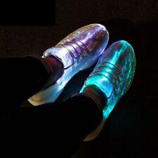 USB Recharge Luminous Glowing Sneakers Led Fiber Optic Light Sport Unesix Shoes