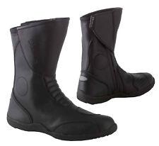 Diora Deuce Casual Leather Waterproof Motorcycle Motorbike Boots Black Touring
