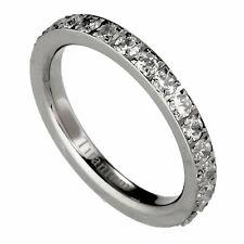 Solid Titanium Eternity Ring Round Clear CZ around Size 4 - 8