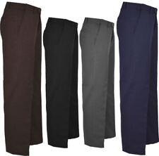Mens Fancy Smart Belt Pocket Business Pants Boys Plain Office Pants Trousers