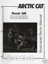 2004 ARCTIC CAT FIRECAT 600 SNOWMOBILE PARTS MANUAL