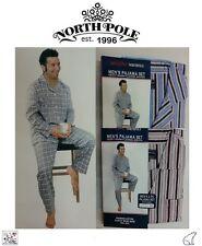 Men's North Pole Premium Two Piece Heavy Warm Flannel 100% Cotton Pajama Set