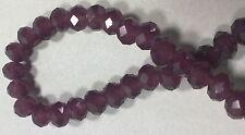10 PERLE ROSA ANTICO OPACO 6 mm MEZZI CRISTALLI SFACCETTATI beads BIGIOTTERIA
