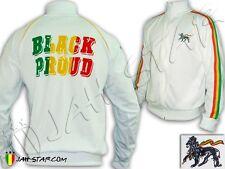 Rasta Jacket Reggae Black & Pround Peace Unity Jah Star Wear Polyester