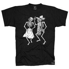 Rockabilly Muerte Dancing Gotik Dead Tattoo Skull T-Shirt *1156 bl