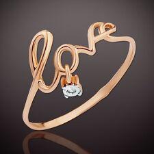 Russische Rose Gold 585 Goldring mit Diamant. LOVE Ring SEHR Hübsch!!!
