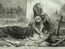 Matt Morgan Semon CENTRE STREET COLLAPSE DEATH PRAYER 1873 Engraving Matted