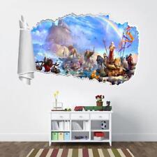 Noah's Ark 3D Torn Hole Ripped Wall Sticker Decal Home Decor Art Mural WT136